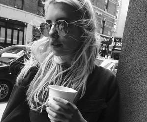 emma roberts, coffee, and hair image