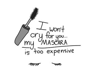 mascara, cry, and makeup image