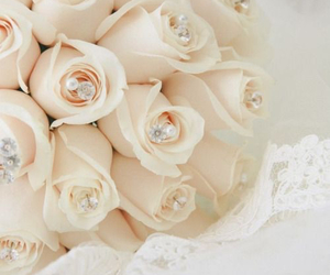 rose, wedding, and bridal image