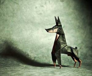 dog and origami image