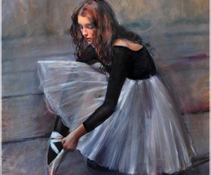 art, painting, and ballet image