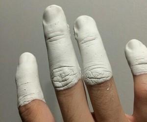 white, grunge, and hand image