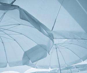 umbrella, blue, and aesthetic image