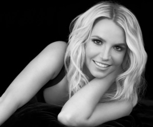 black and white, britney, and picture image