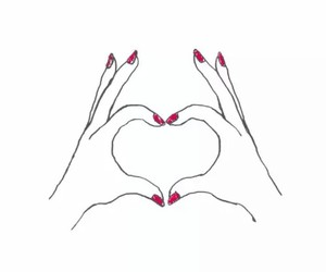 heart, hands, and hand image