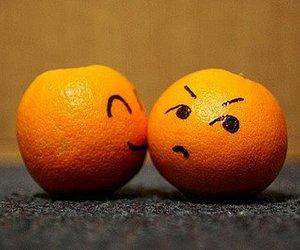 orange, kiss, and lovely image