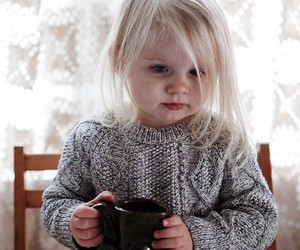 infant. and coffee ?. image