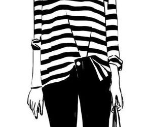 bag, draw, and black & white image