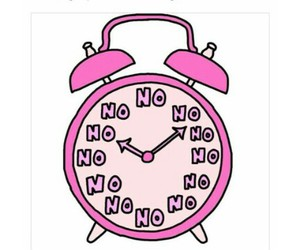 no, clock, and pink image