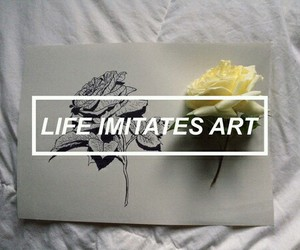 art, life, and flowers image