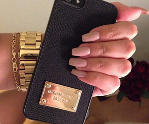 nails, iphone, and Michael Kors image