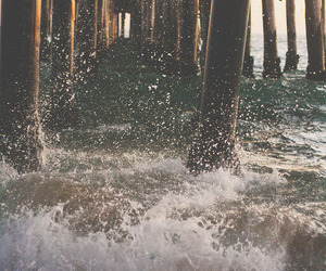 water, sea, and beach image