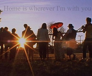 home, life, and sunset image