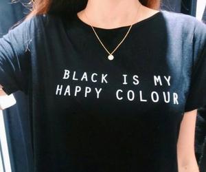 black, dark, and tshirt image
