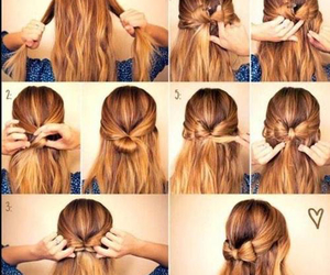 bow, hair, and hair styles image