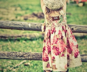 girl, dress, and country image