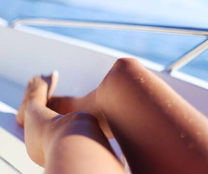 summer, girl, and legs image