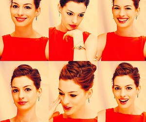 Anne Hathaway and red dress image