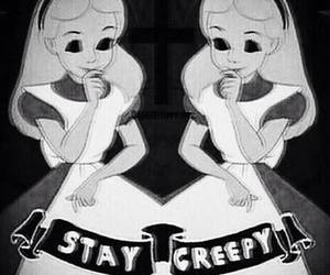 creepy, alice, and alice in wonderland image