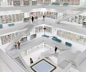 books, library, and Stuttgart image