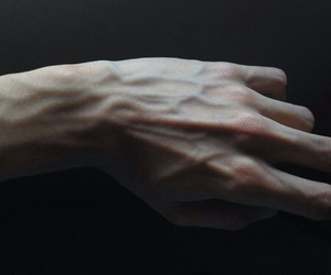 dark, hands, and pale image
