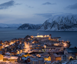 norway, city, and lights image