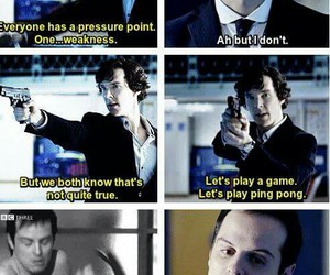 sherlock holmes, moriarty, and andrew scott image