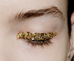 eye, glitter, and gold image