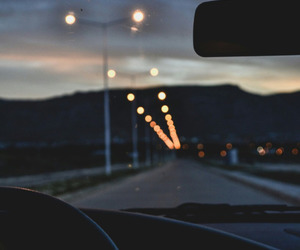 lights and road image