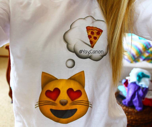 cat, pizza, and quality image