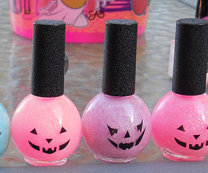 pink, Halloween, and nails image