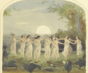 dance, midsummer, and moon image