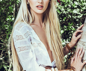 model, candice swanepoel, and blonde image