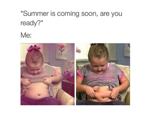 funny, summer time, and body image