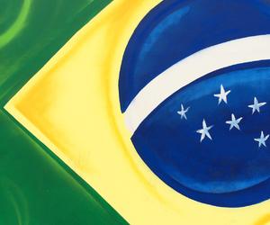 art, blue, and brasil image