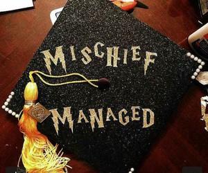 graduation, hp, and graduation cap image