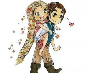 love, disney, and rapunzel image