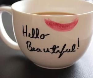 beautiful, coffee, and hello image
