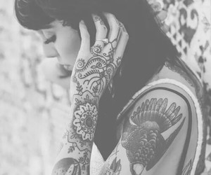 black and white, pretty, and punk image