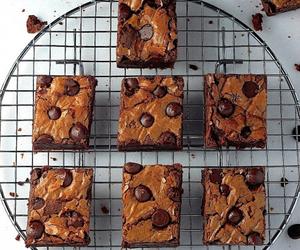 brownies, food, and chocolate image