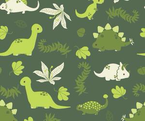 background, pattern, and dinosaur image