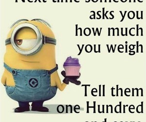 minions, diet, and funny image
