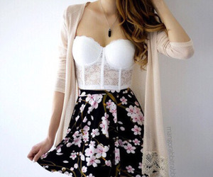 fashion, flower, and outfits image