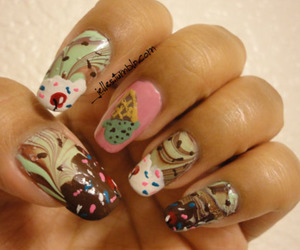 Cookies, lovely nails, and cupcakes image