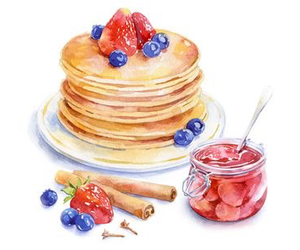pancakes, art, and food image