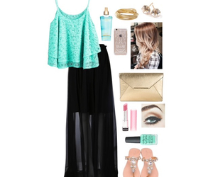 clothes, fashion, and maxi skirt image