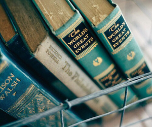 book, vintage, and blue image