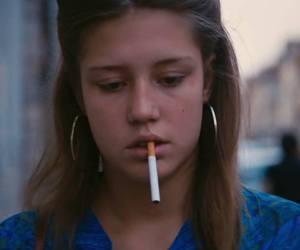Adele, blue, and cigarette image