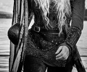 vikings, strong woman, and lagertha image