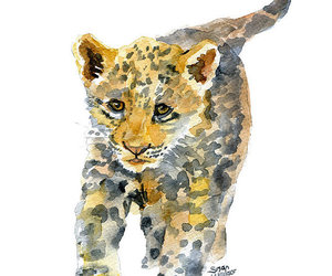 animals, jaguar, and painting image